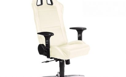 Playseat wit bureaustoel