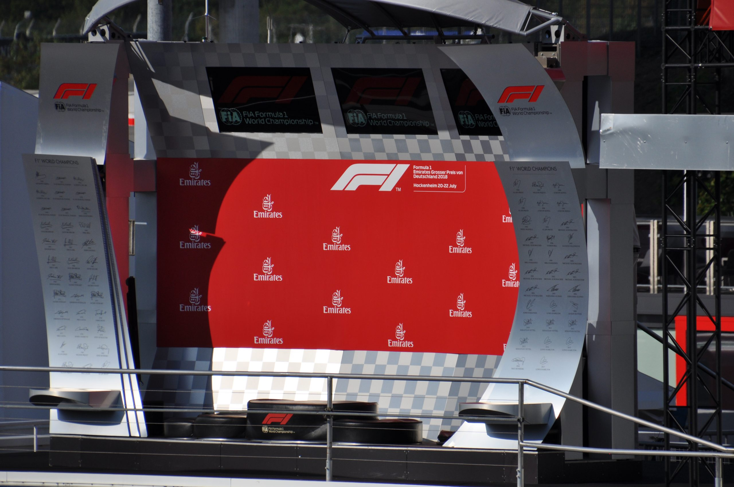 WK stand Formule 1